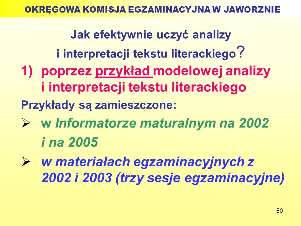 Jak efektywnie uczyć analizy i interpretacji tekstu literackiego