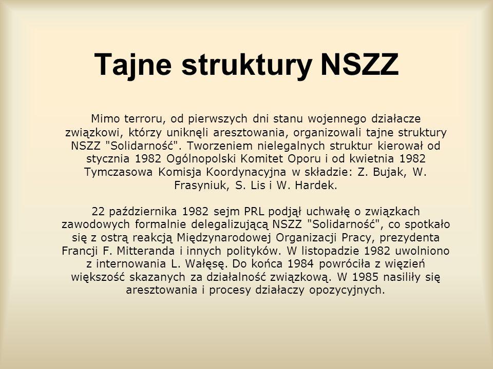 Tajne struktury NSZZ