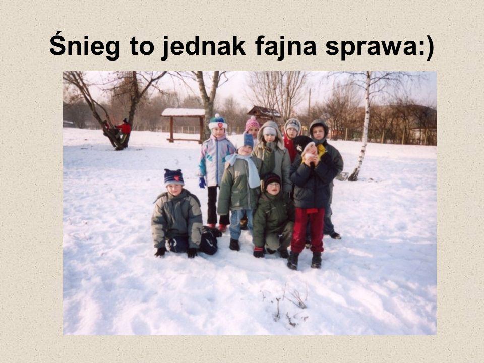 Śnieg to jednak fajna sprawa:)