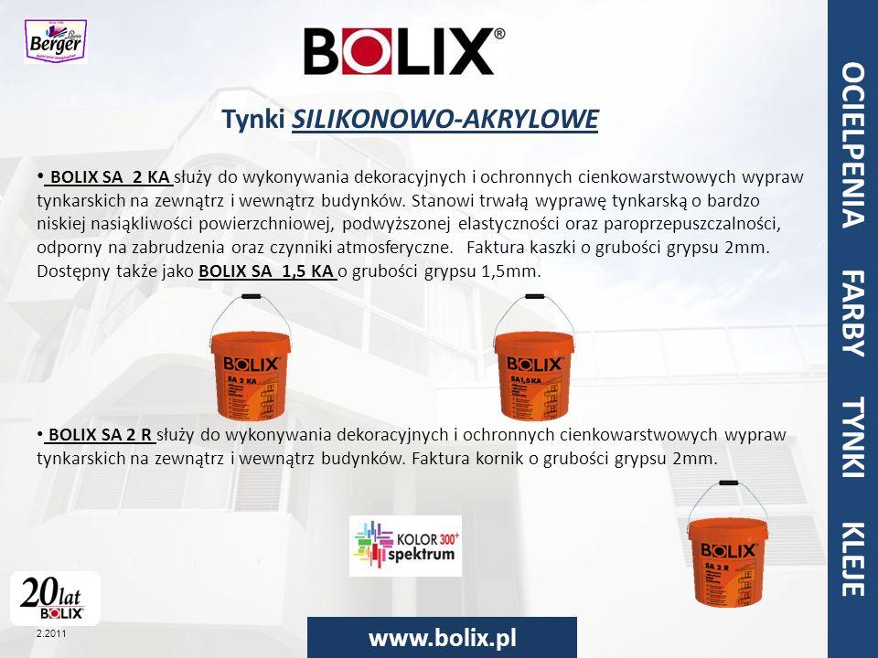 Tynki SILIKONOWO-AKRYLOWE