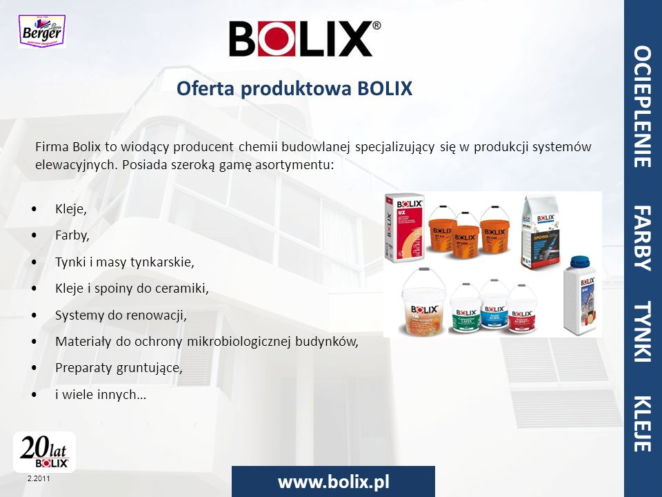 Oferta produktowa BOLIX