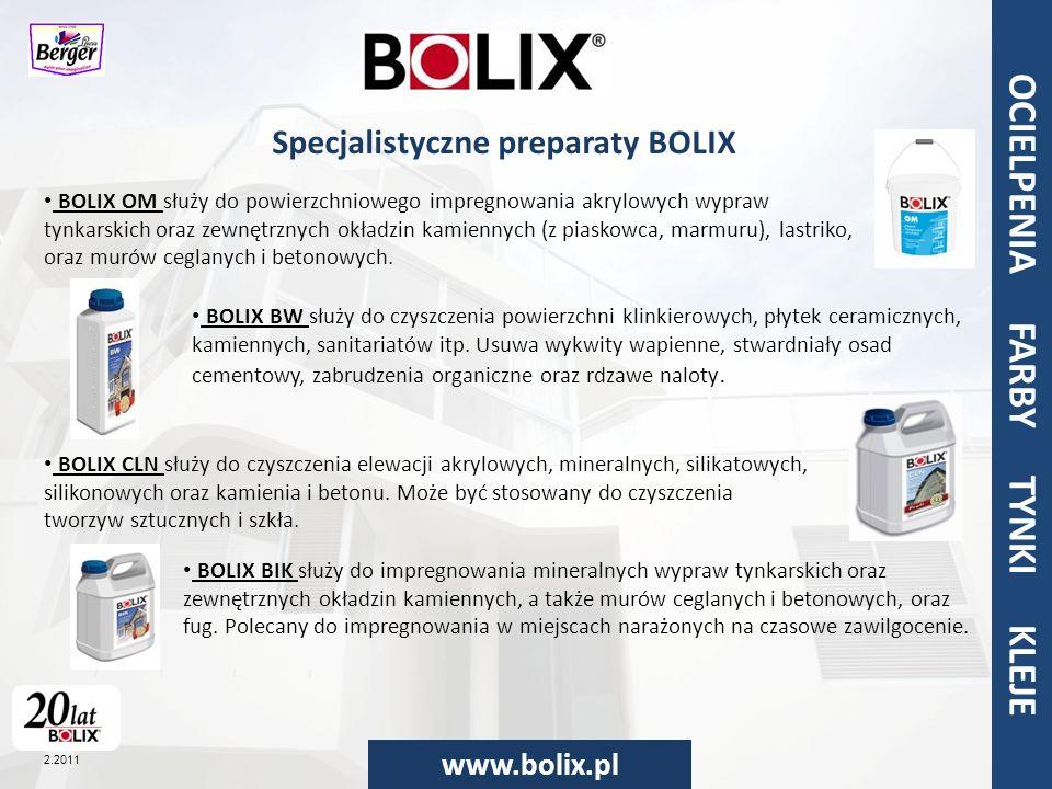 Specjalistyczne preparaty BOLIX