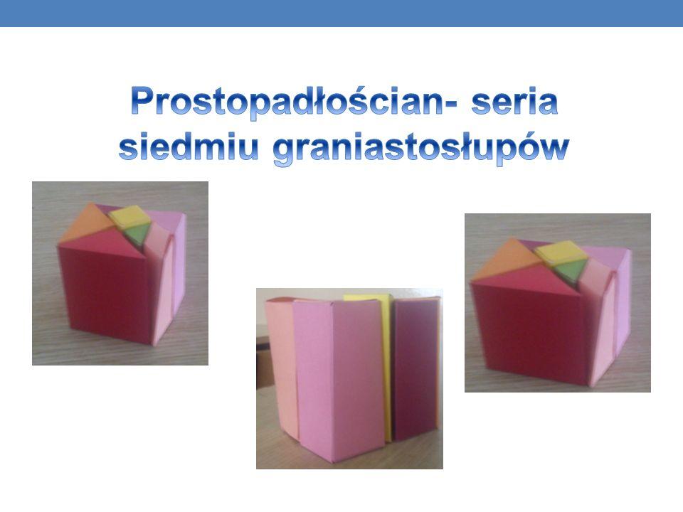 Prostopadłościan- seria siedmiu graniastosłupów