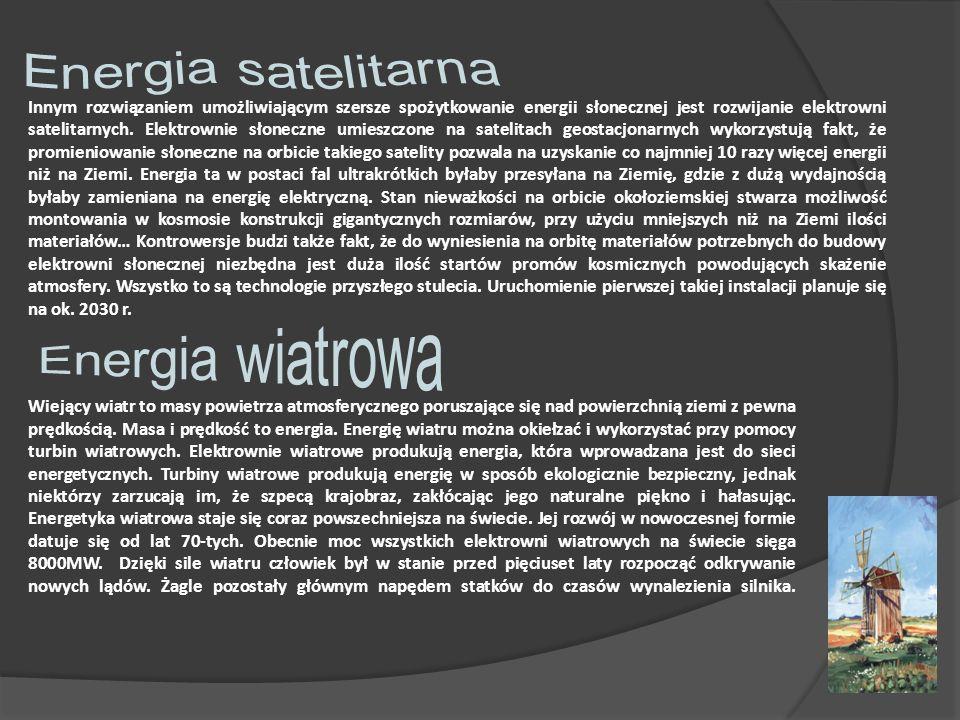 Energia satelitarna Energia wiatrowa