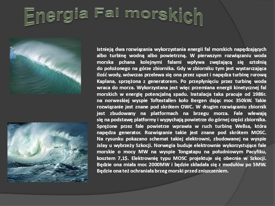 Energia Fal morskich