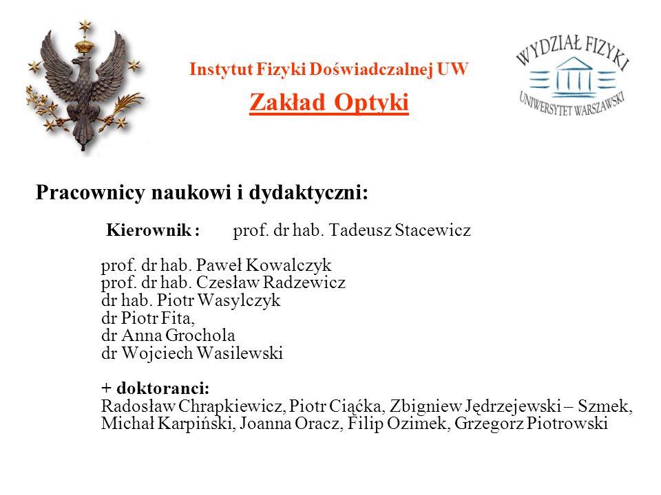 Instytut Fizyki Doświadczalnej UW