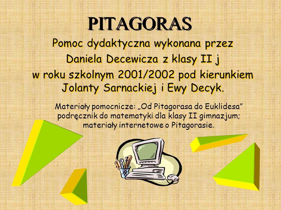 PITAGORAS Pomoc dydaktyczna wykonana przez