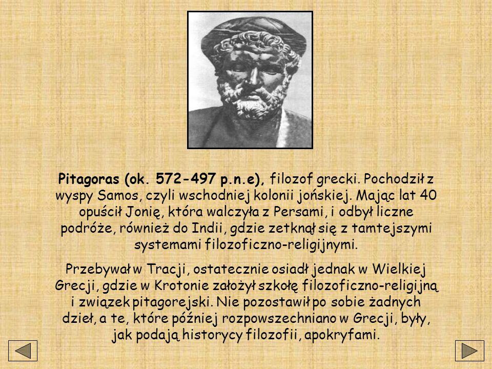 Pitagoras (ok. 572-497 p. n. e), filozof grecki