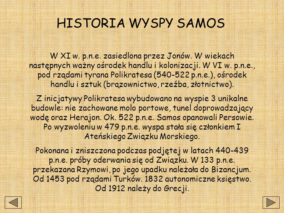 HISTORIA WYSPY SAMOS