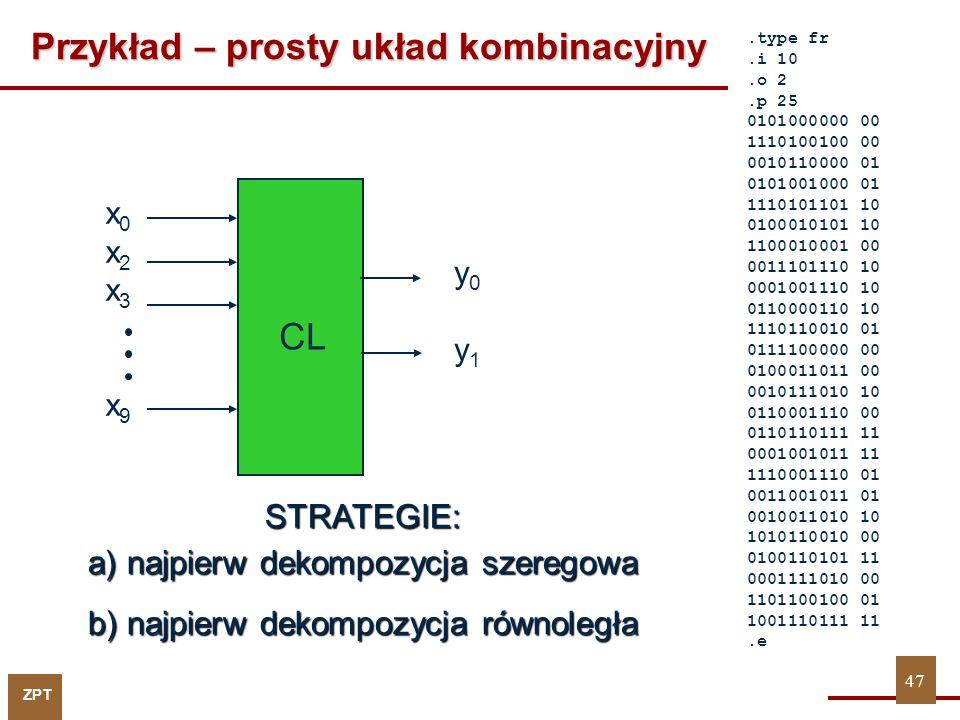 Przykład – prosty układ kombinacyjny
