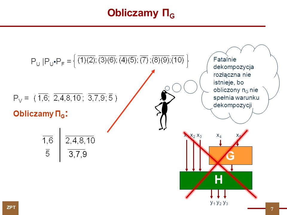 G H Obliczamy ПG PU |PU•PF = PV = Obliczamy ПG: 3,7,9