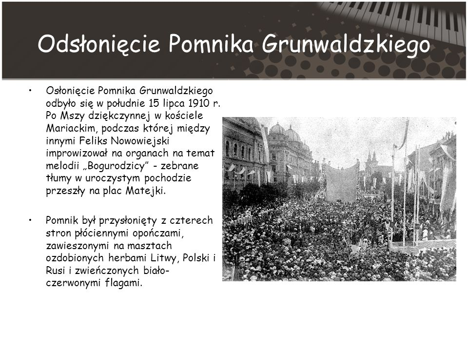 Odsłonięcie Pomnika Grunwaldzkiego
