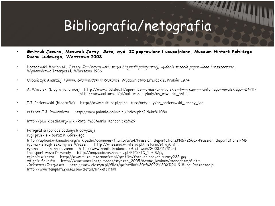 Bibliografia/netografia