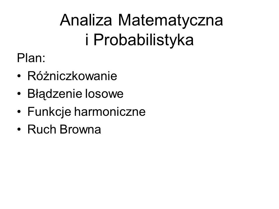 Analiza Matematyczna i Probabilistyka