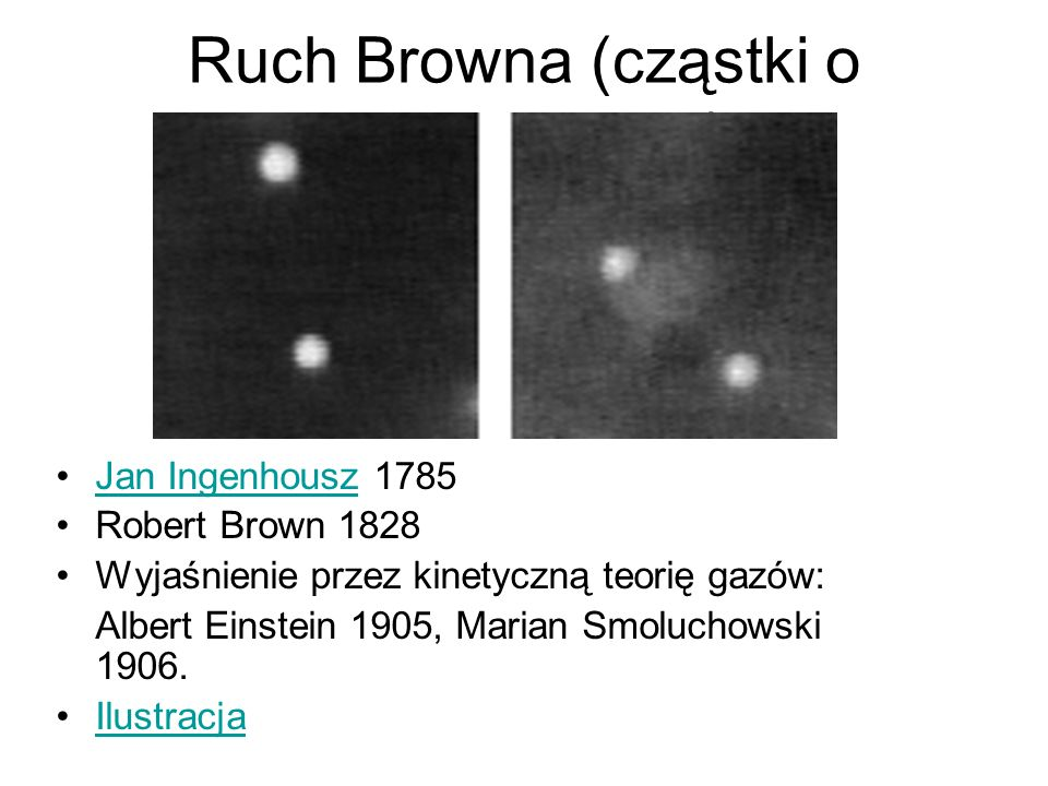 Ruch Browna (cząstki o średnicy 2μm)
