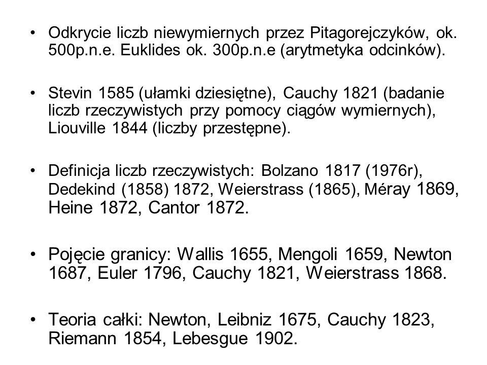 Odkrycie liczb niewymiernych przez Pitagorejczyków, ok. 500p. n. e
