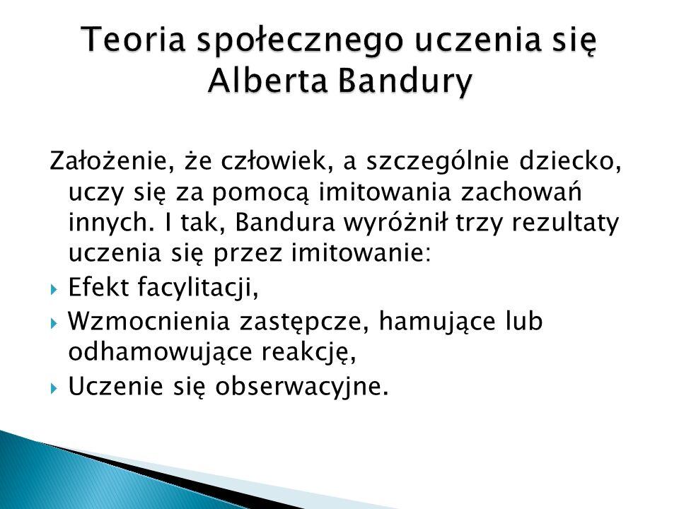 Teoria społecznego uczenia się Alberta Bandury