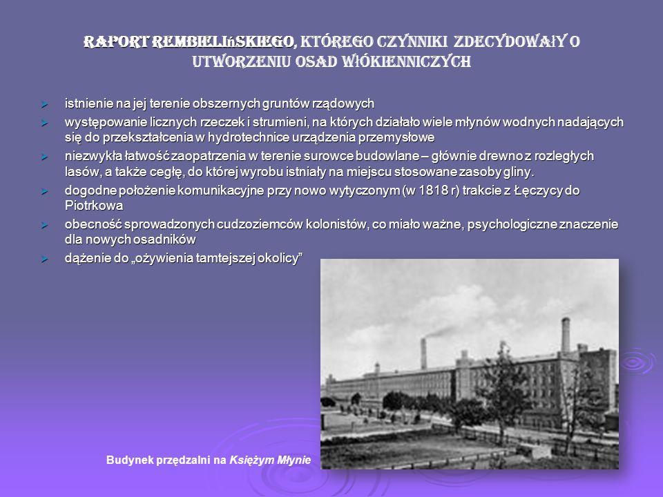 Raport Rembielińskiego, którego czynniki zdecydowały o utworzeniu osad włókienniczych