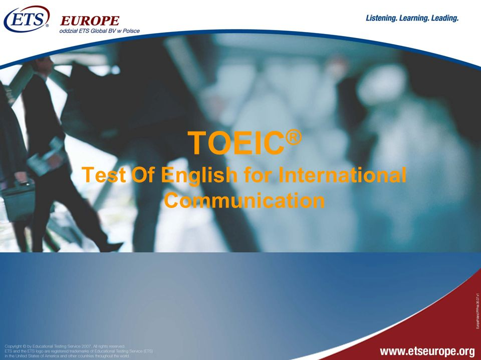 TOEIC® Test Of English for International Communication