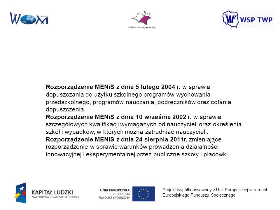 Rozporządzenie MENiS z dnia 5 lutego 2004 r