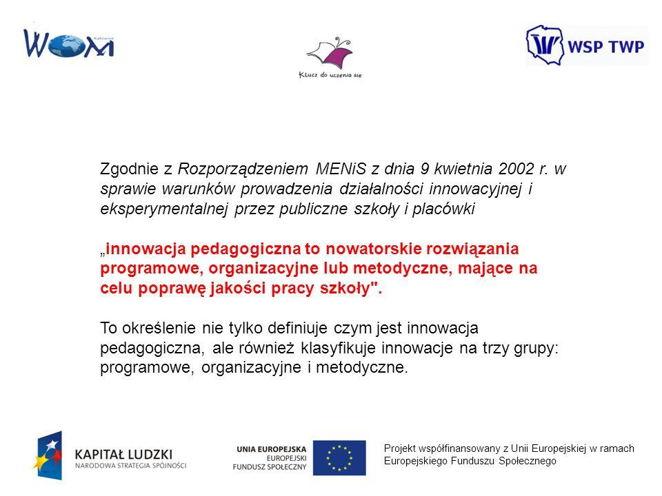 Zgodnie z Rozporządzeniem MENiS z dnia 9 kwietnia 2002 r