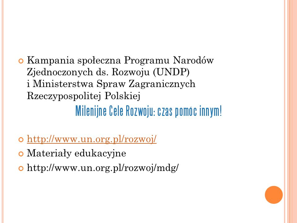 Kampania społeczna Programu Narodów Zjednoczonych ds