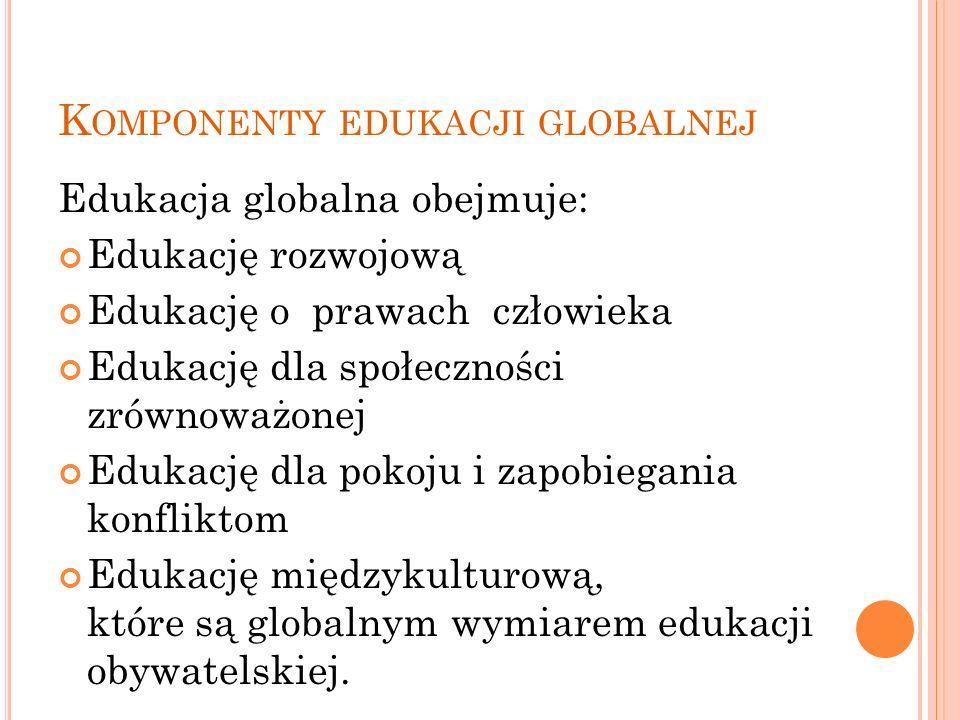 Komponenty edukacji globalnej