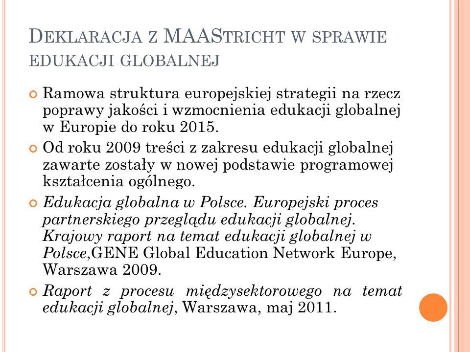 Deklaracja z MAAStricht w sprawie edukacji globalnej