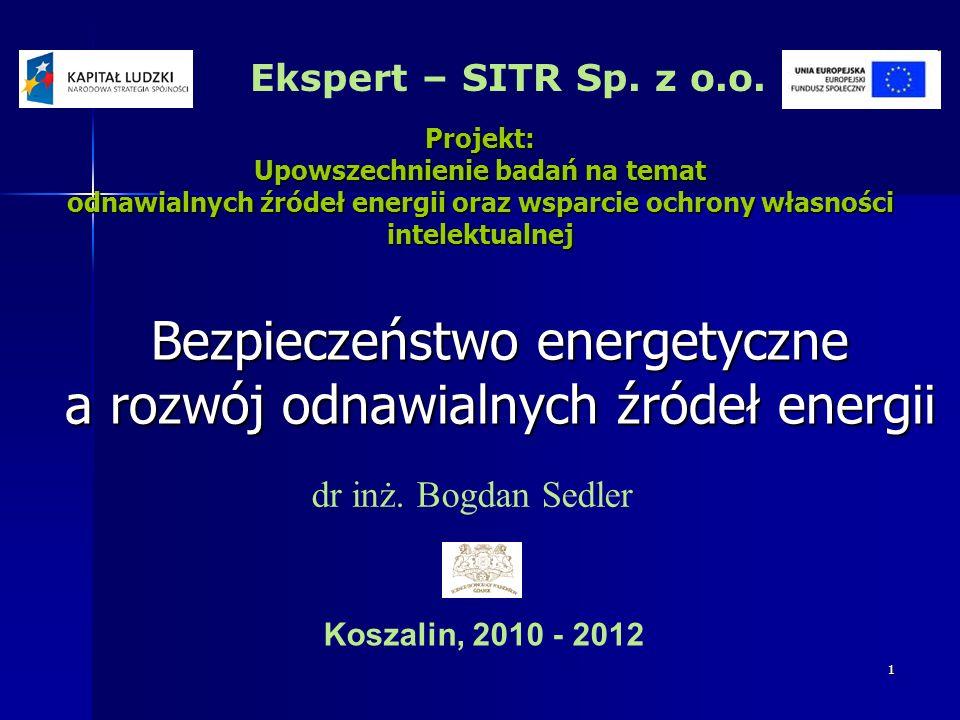 Bezpieczeństwo energetyczne a rozwój odnawialnych źródeł energii