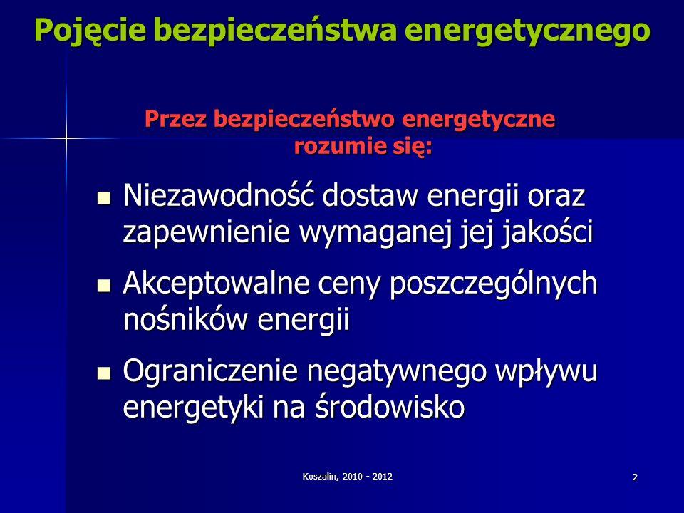 Pojęcie bezpieczeństwa energetycznego