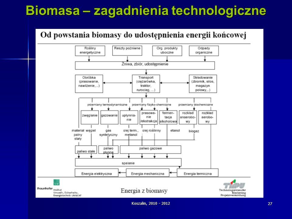 Biomasa – zagadnienia technologiczne