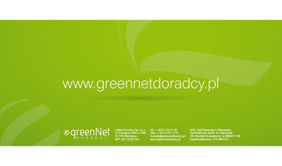 redNet Doradcy Sp. z o.o. ul. Dywizjonu 303 nr 129B. 02-134 Warszawa. NIP: 632-19-28-720. tel.: + 48 22 318 72 00.