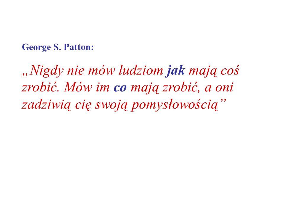 """George S. Patton: """"Nigdy nie mów ludziom jak mają coś zrobić."""