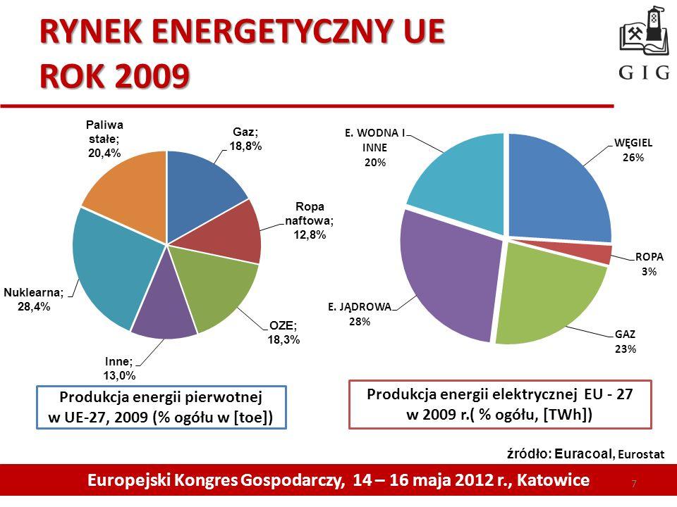 RYNEK ENERGETYCZNY UE ROK 2009