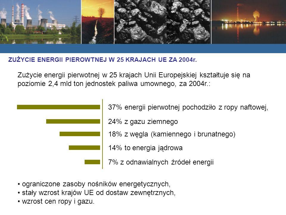 37% energii pierwotnej pochodziło z ropy naftowej,