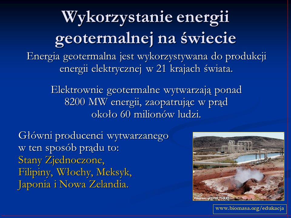Wykorzystanie energii geotermalnej na świecie