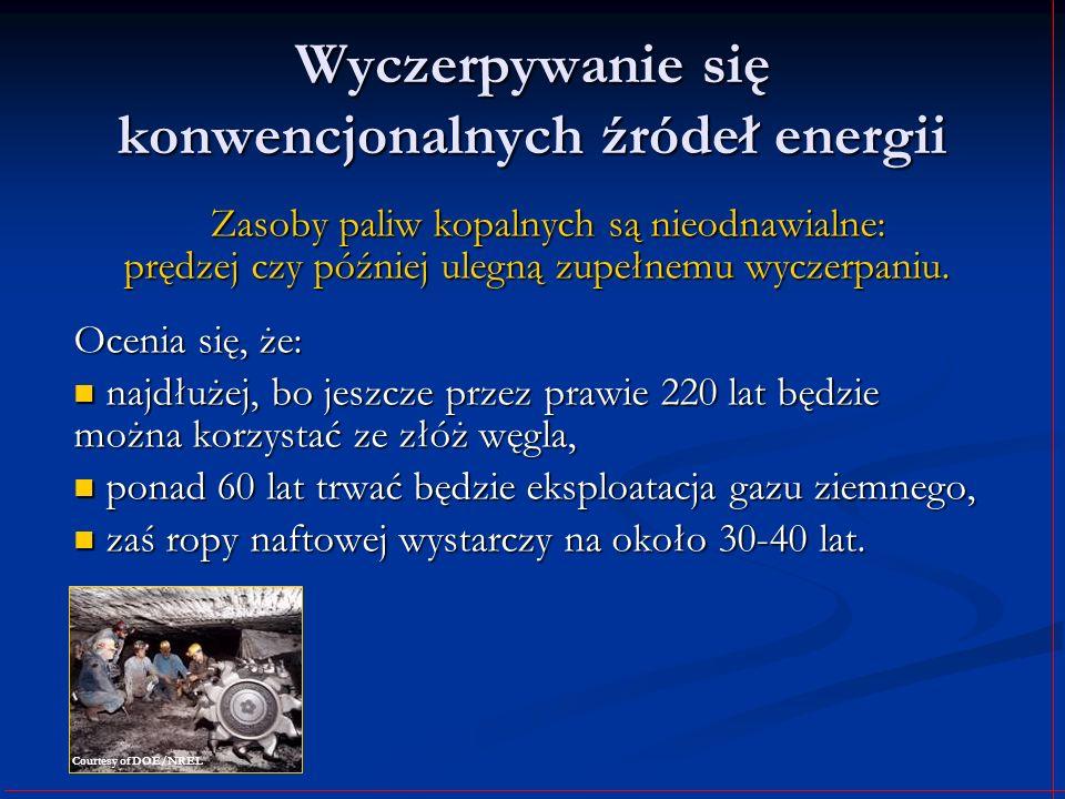 Wyczerpywanie się konwencjonalnych źródeł energii