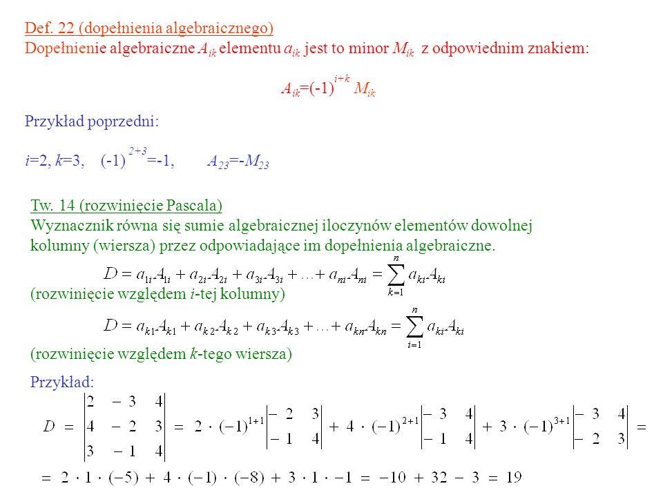 Def. 22 (dopełnienia algebraicznego)