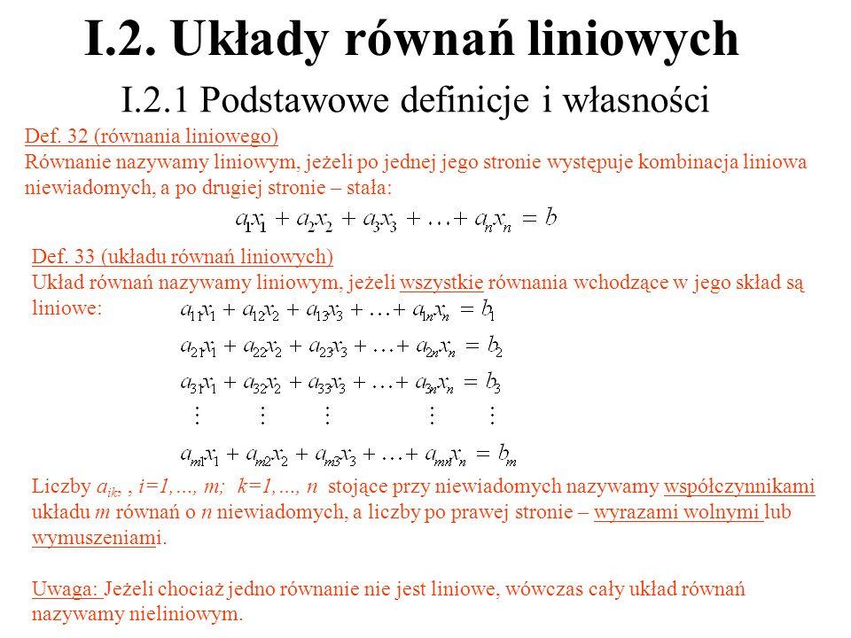 I.2. Układy równań liniowych