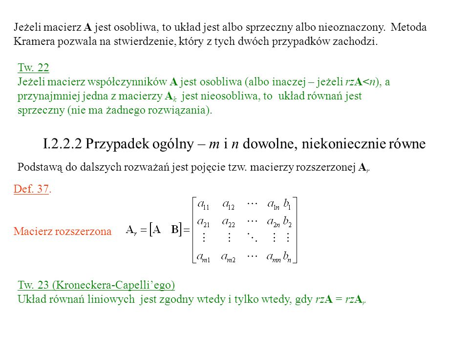 I.2.2.2 Przypadek ogólny – m i n dowolne, niekoniecznie równe