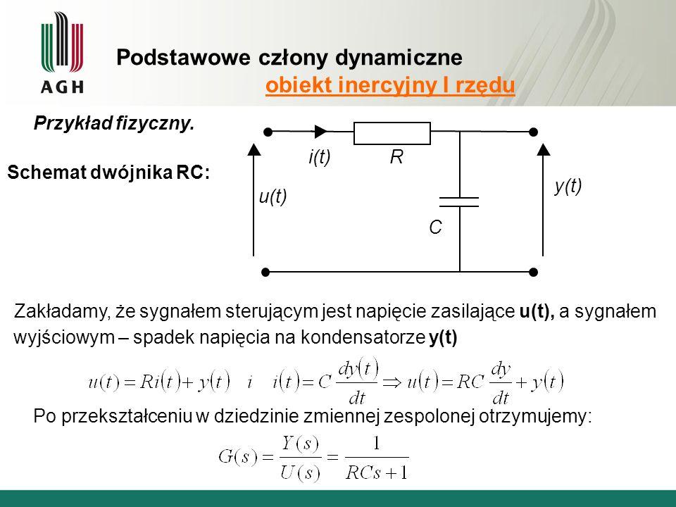 Podstawowe człony dynamiczne obiekt inercyjny I rzędu