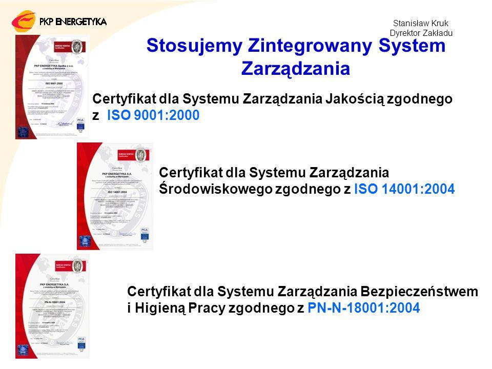 Stosujemy Zintegrowany System Zarządzania