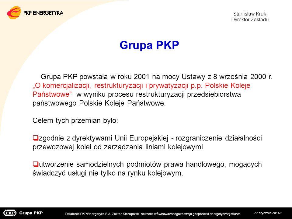 Stanisław Kruk Dyrektor Zakładu. Grupa PKP.