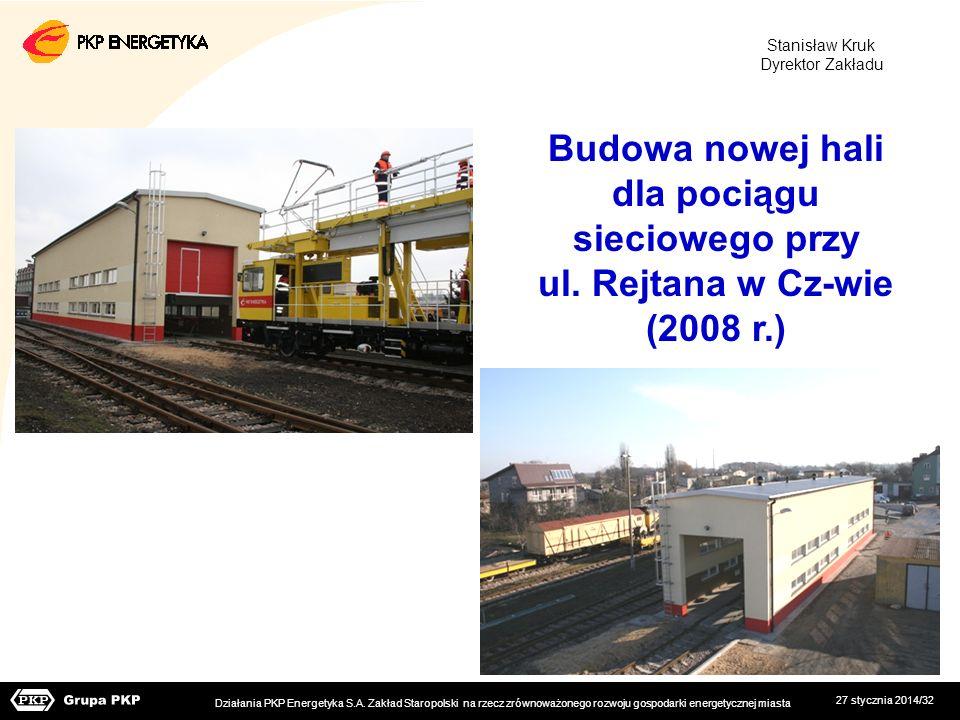 Budowa nowej hali dla pociągu sieciowego przy