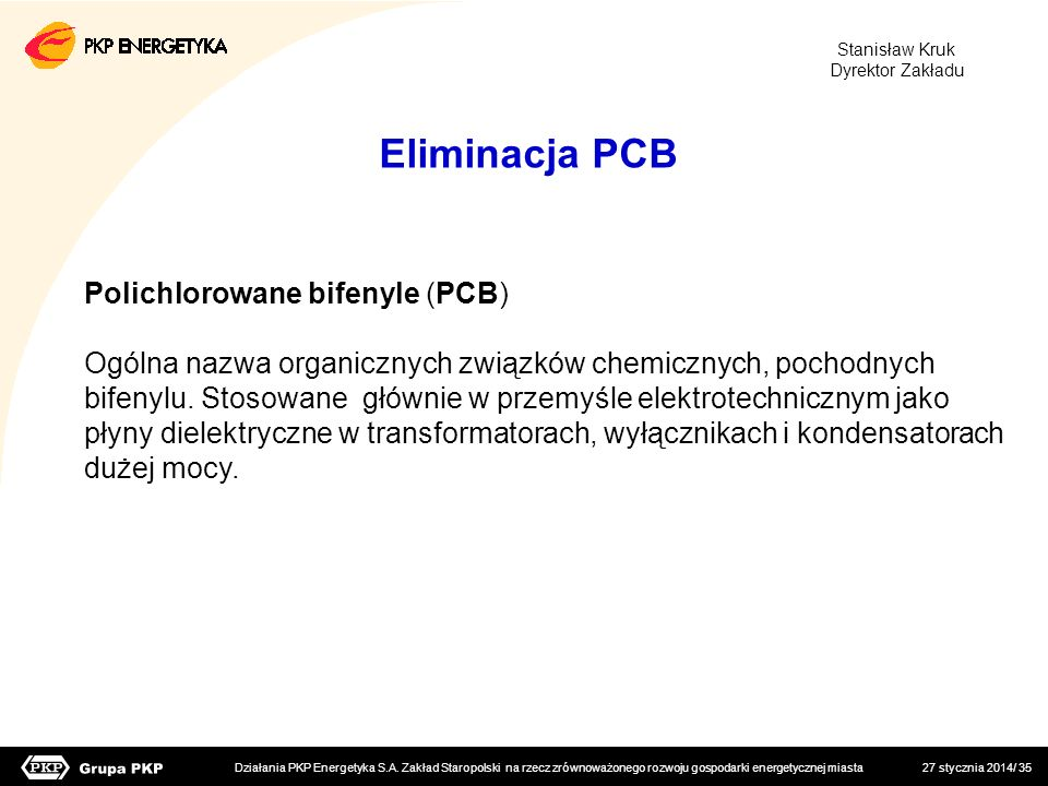 Eliminacja PCB Polichlorowane bifenyle (PCB)