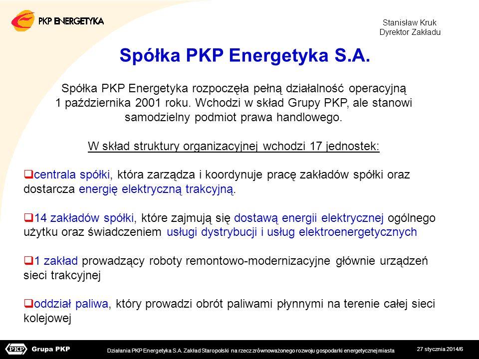 Spółka PKP Energetyka S.A.