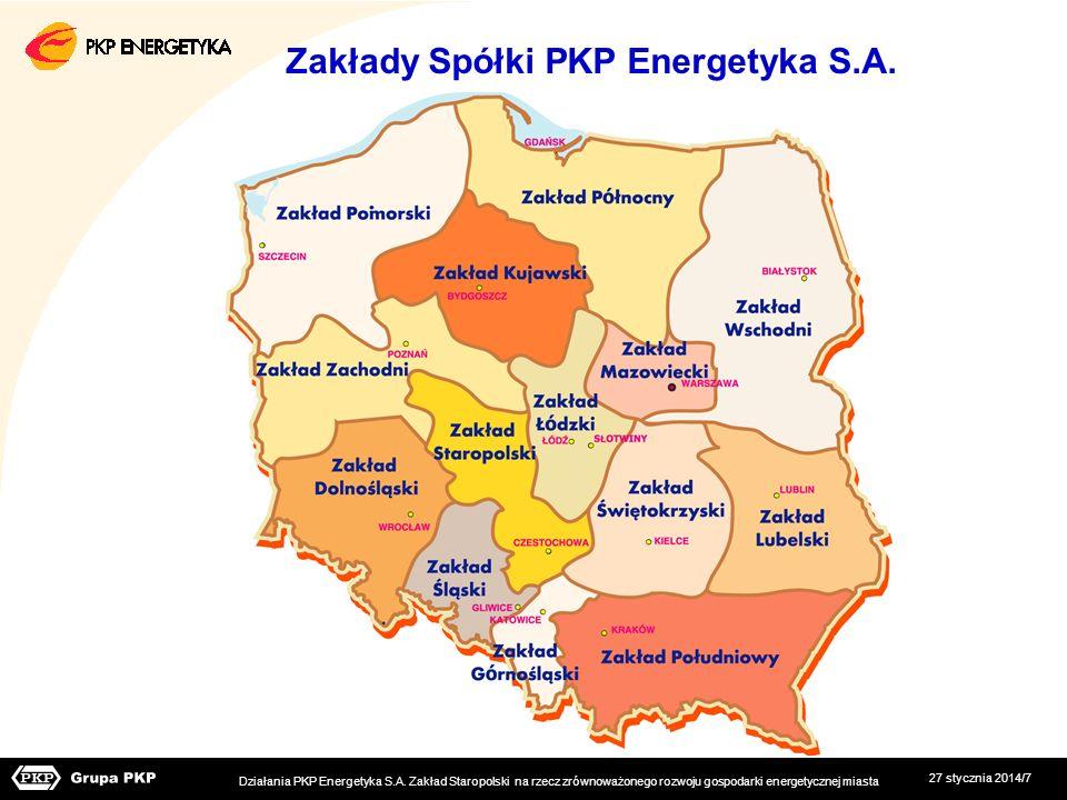 Zakłady Spółki PKP Energetyka S.A.