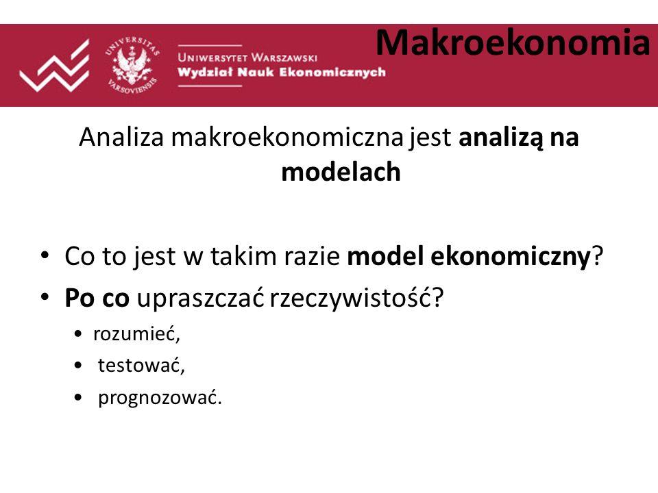 Analiza makroekonomiczna jest analizą na modelach