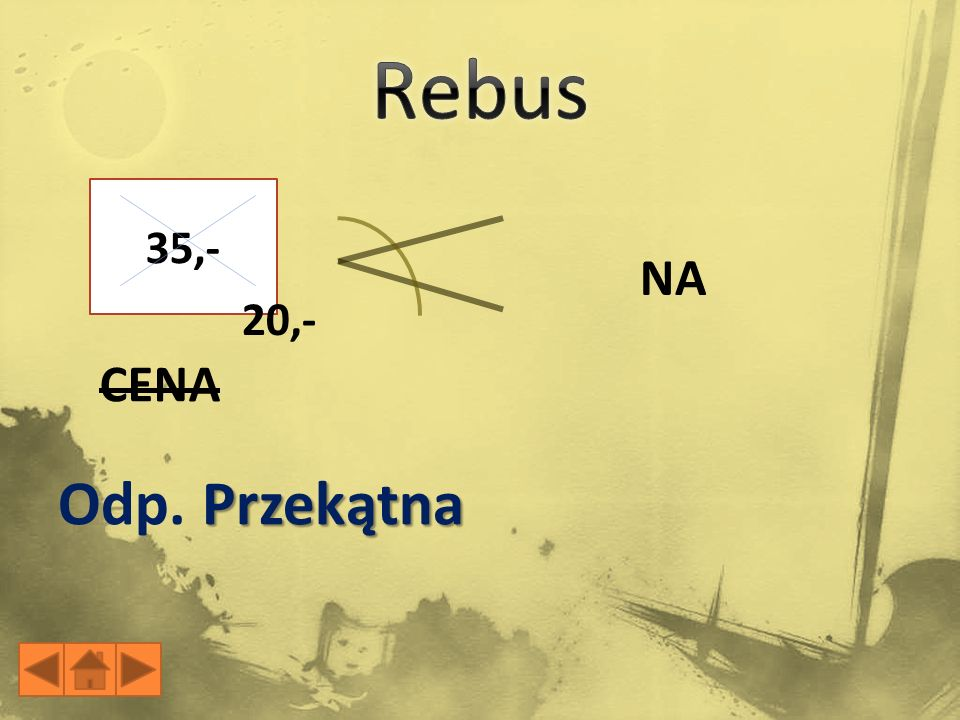 Rebus 35,- NA 20,- CENA Odp. Przekątna