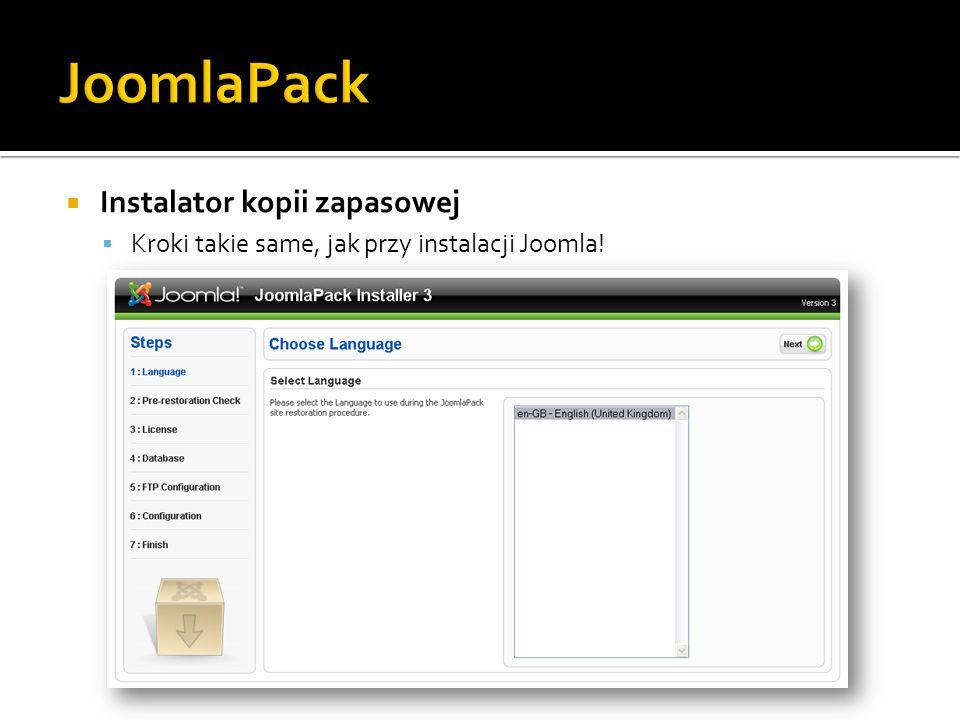 JoomlaPack Instalator kopii zapasowej